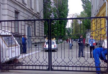 Кованые ворота для городка СГУ